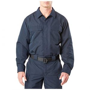 5.11 Tactical Shirt 1 5.11 Tactical Men's Fast-TAC TDU Long Sleeve Shirt, Ripstop Polyester, Bi-Swing Shoulders, Loose Fit, Style 72465