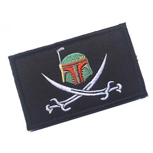 Embroidery Patch Airsoft Morale Patch 2 Star Wars Boba Fett Helmet Military Hook Loop Tactics Morale Embroidered Patch