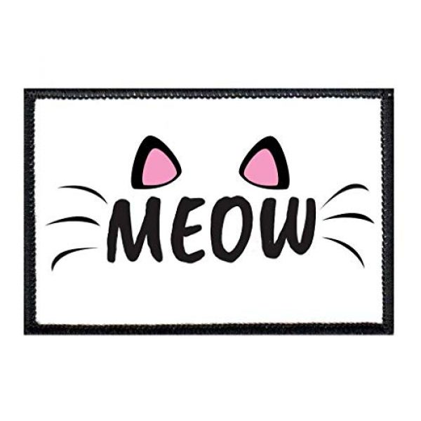 P PULLPATCH Airsoft Morale Patch 1 Meow Morale Patch   Hook and Loop Attach for Hats, Jeans, Vest, Coat   2x3 in   by Pull Patch
