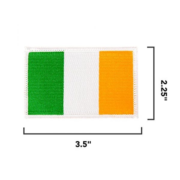 Desert Cactus Airsoft Morale Patch 2 Ireland Flag Patch Bulk 3-Pack 3.5Wx2.25H State Iron On Sew Embroidered Tactical Morale Back Pack Hat Bags Irish (3-Pack Patch)
