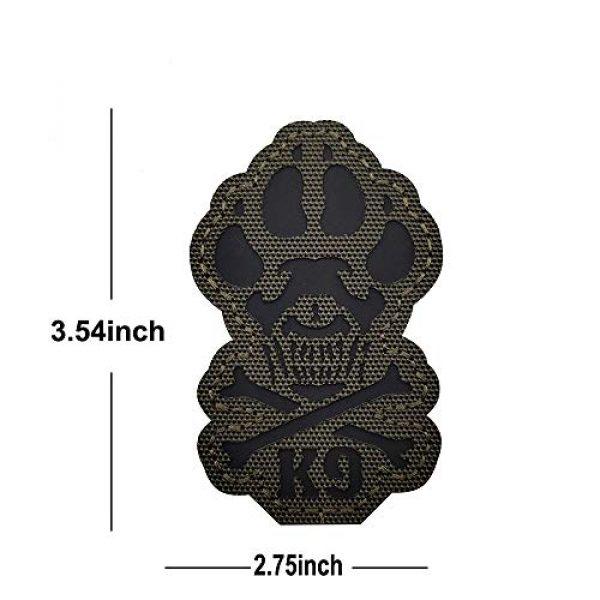 Veelkrom Airsoft Morale Patch 2 Veelkrom Reflective K9 & Crossbone Killer Attack Police Dog Fastener Patch Tactical Morale Military Emblem Badge Hook Loop Backing Swat for Service Animal Pet Vests/Harnesses (Green)