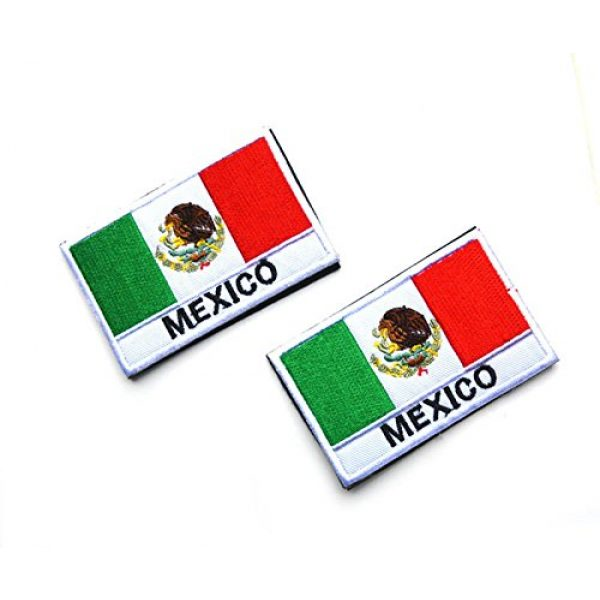Zhikang68 Airsoft Morale Patch 5 Mexico International Flag Mexican Country Emblem Embroidered Military Tactical Morale Badges Sew On Shoulder Applique for Motorcycle Jackets, Clothes, Backpacks (Style 1)