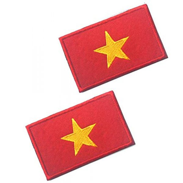 Tactical Embroidery Patch Airsoft Morale Patch 1 2pcs Vietnam Flag Embroidery Patch Military Tactical Morale Patch Badges Emblem Applique Hook Patches for Clothes Backpack Accessories