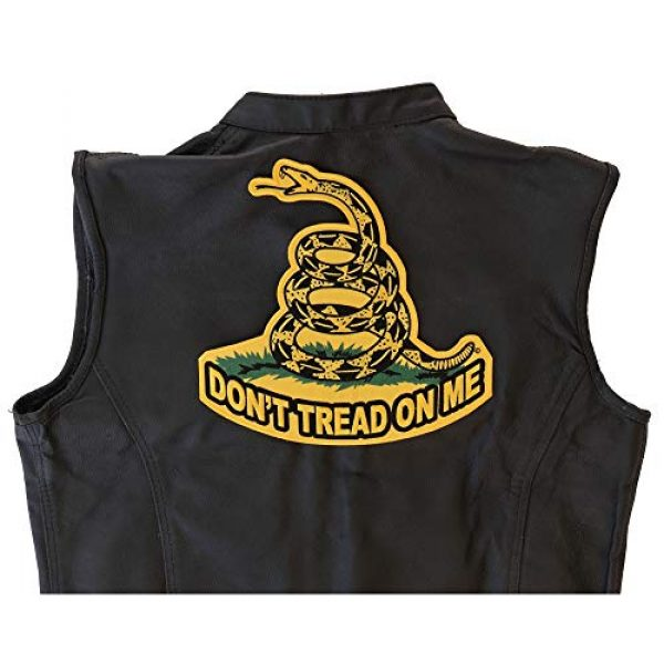 Ivamis Trading Airsoft Morale Patch 2 Don't Tread On Me, Yellow Gadsden Snake, Large Back Patch - 10x10 inch. Embroidered Iron on Patch