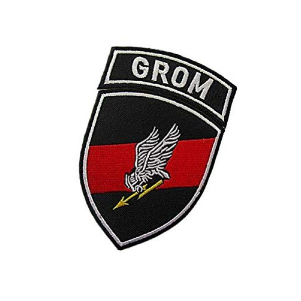 Embroidery Patch Airsoft Morale Patch 3 2 Pieces Polish Special Forces GROM TF-49 Military Hook Loop Tactics Morale Embroidered Patch