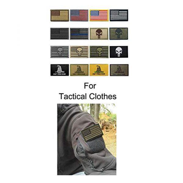 WZT Airsoft Morale Patch 4 WZT Bundle 16 Pieces American Flag Tactical Morale Military Patch Set