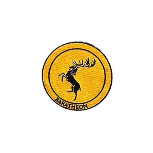 Embroidery Patch Airsoft Morale Patch 3 Game of Thrones House Baratheon Military Hook Loop Tactics Morale Embroidered Patch