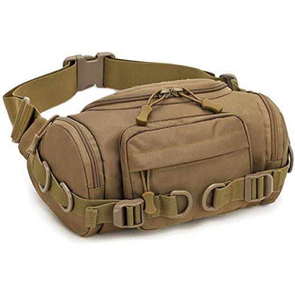 ACOMOO Tactical Pouch 1 ACOMOO Tactical Fanny Pack Portable Waist Bum Bag for Men Women Brown