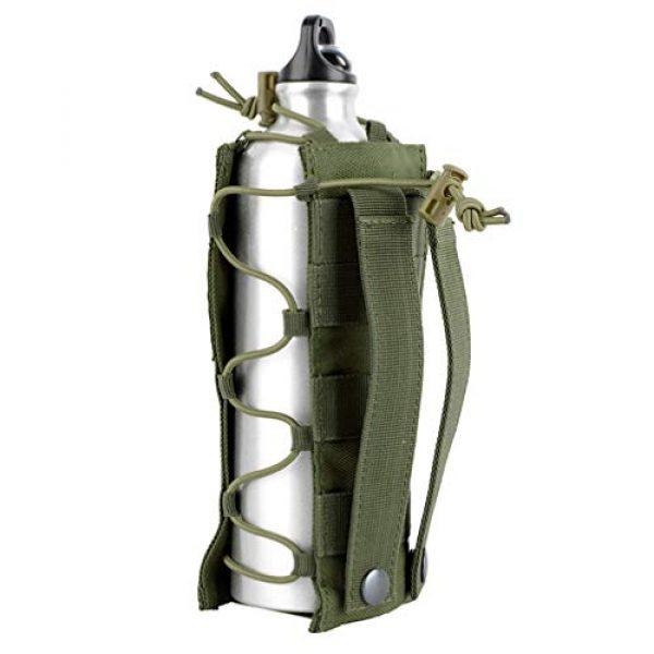 BESPORTBLE Tactical Pouch 4 BESPORTBLE Army Green Portable Outdoor Waist Pouch Sport Travel Elastic Water Bottle Bag Holder Kettle Carrier