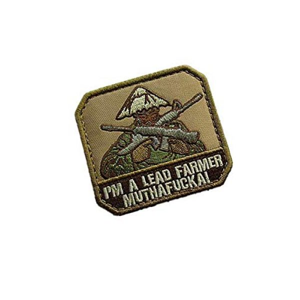 Embroidery Patch Airsoft Morale Patch 2 I'm A Lead Farmer Military Hook Loop Tactics Morale Embroidered Patch
