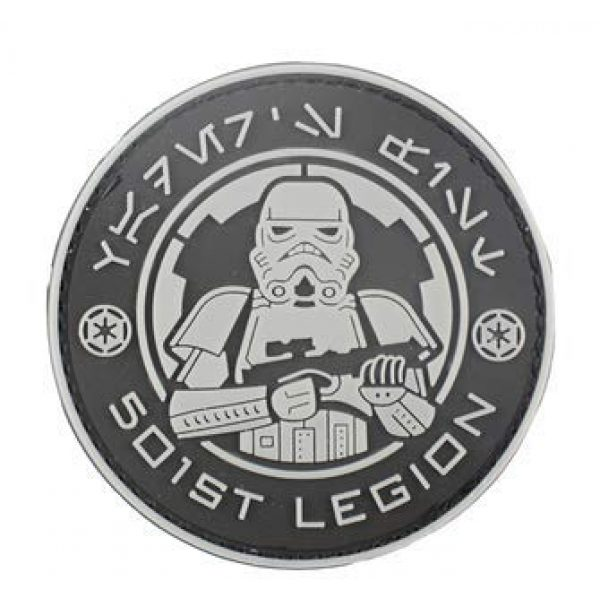 Tactical PVC Patch Airsoft Morale Patch 3 Star Wars 501st Stormtrooper Legion Logo PVC Military Tactical Morale Patch Badges Emblem Applique Hook Patches for Clothes Backpack Accessories