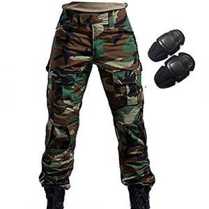 H World Shopping Tactical Pant 1 H World Shopping Military Army Tactical Airsoft Paintball Shooting Pants Combat Men Pants with Knee Pads Woodland