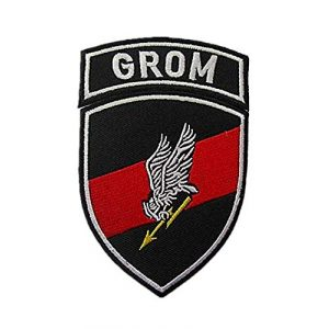 Embroidery Patch Airsoft Morale Patch 1 2 Pieces Polish Special Forces GROM TF-49 Military Hook Loop Tactics Morale Embroidered Patch
