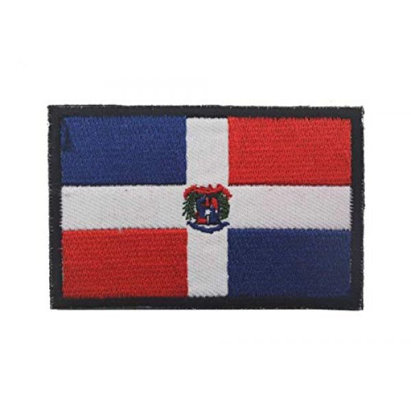 Tactical Embroidery Patch Airsoft Morale Patch 1 Dominican Flag Embroidery Patch Military Tactical Morale Patch Badges Emblem Applique Hook Patches for Clothes Backpack Accessories