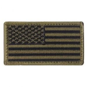 F-Bomb Morale Gear Airsoft Morale Patch 1 American Flag Tactical Morale Patch - Embroidered USA Flag with Hook and Loop Backing (Olive Drab/Black)