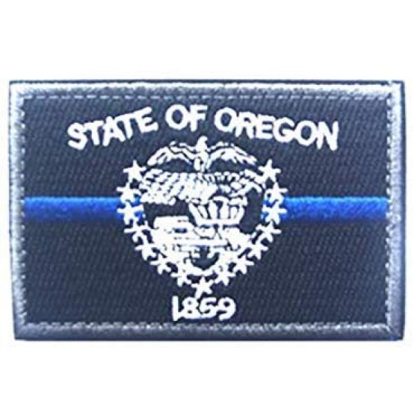 Tactical Embroidery Patch Airsoft Morale Patch 1 State Flag of Oregon Embroidery Patch Military Tactical Morale Patch Badges Emblem Applique Hook Patches for Clothes Backpack Accessories