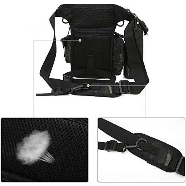 ACOMOO Tactical Pouch 6 ACOMOO Tactical Drop Leg Waist Bag Mens Outdoor Sport Thigh Hip Pack Utility Pouch Camo Black