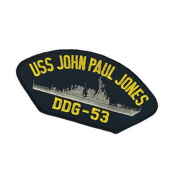 Embroidery Patch Airsoft Morale Patch 3 USS John Paul Jones DDG-53 Military Hook Loop Tactics Morale Embroidered Patch