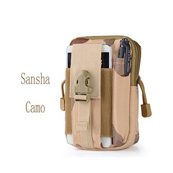 Abcsea Tactical Pouch 1 Abcsea Canvas Outdoor Tactical Wallets, Holster Military Molle Hip Waist Belt Bag Wallet Pouch Purse Phone Case with Zipper for iPhone 7 6s Plus 5S Samsung Galaxy S7 S6 LG HTC and More