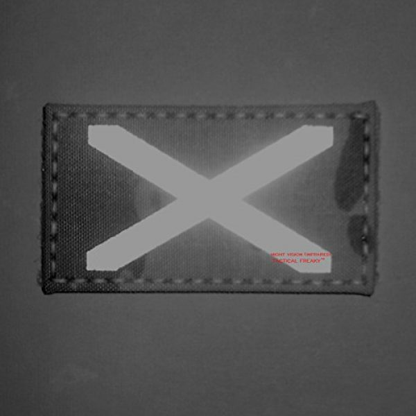 Tactical Freaky Airsoft Morale Patch 2 Multicam Infrared IR Alabama Flag Scotland 3.5x2 IFF Tactical Morale Fastener Patch