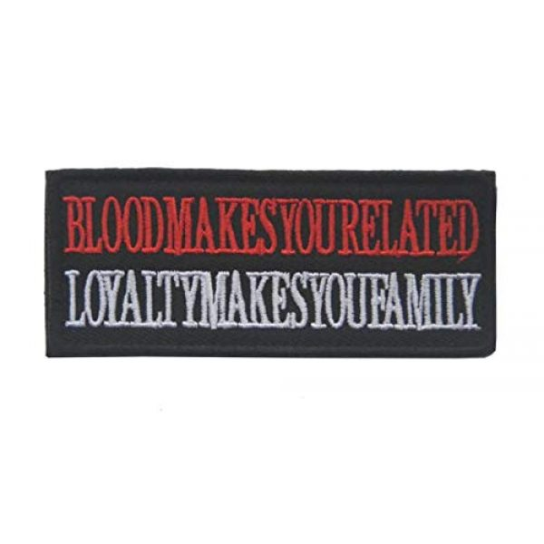 Tactical Embroidery Patch Airsoft Morale Patch 1 Blood Makes You Related Loyalty Makes You Family Embroidery Patch Military Tactical Morale Patch Badges Emblem Applique Hook Patches for Clothes Backpack Accessories