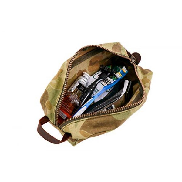 Battle Board Tactical Pouch 3 Vintage Travel Kit - Frog Skin P42 Camo (Small, Sand)
