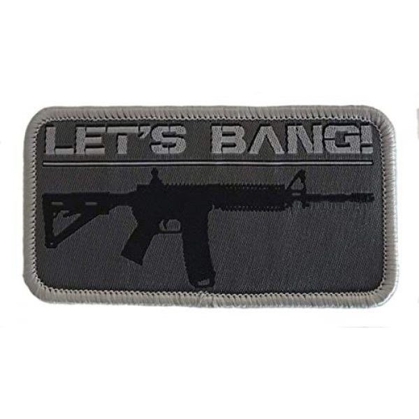 F-Bomb Morale Gear Airsoft Morale Patch 1 Let's Bang - AR15 / M4 - Embroidered Morale Patch