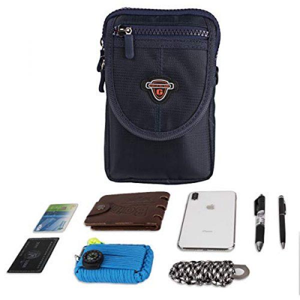IronSeals Tactical Pouch 6 IronSeals AQ Tactical Waterproof Shoulder Tape Molle EDC Belt Waist Pouch Bag Zipper Tough D-Ring Hook & Loop Three Interlayer Wallet for Phone