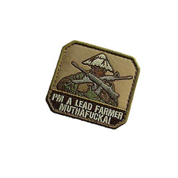 Embroidery Patch Airsoft Morale Patch 3 I'm A Lead Farmer Military Hook Loop Tactics Morale Embroidered Patch
