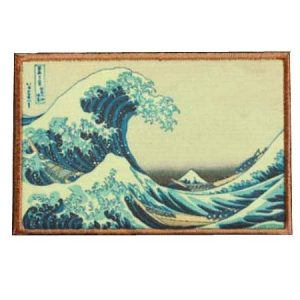Fine Print Patch Airsoft Morale Patch 1 The Great Wave Off Kanagawa Japanese Hook Loop Tactics Morale Printed Patch