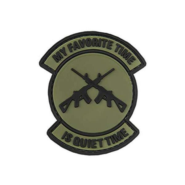 G-Force Airsoft Morale Patch 1 My Favorite Time is Quiet Time PVC Morale Patch - OD Green