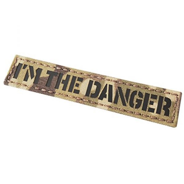 Tactical Freaky Airsoft Morale Patch 1 IR I am The Danger 1x5 Multicam Infrared Name Tag Callsign Morale Tactical Fastener Patch