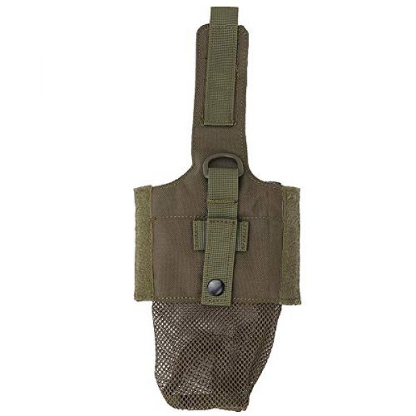 SolUptanisu Tactical Pouch 2 SolUptanisu Tactic Kettle Holder Bag Outdoor Military Molle Water Bottle Bag Folding Kettle Pouch Portable Tactical Accessory Bag for Traveling Camping Hiking Fishing