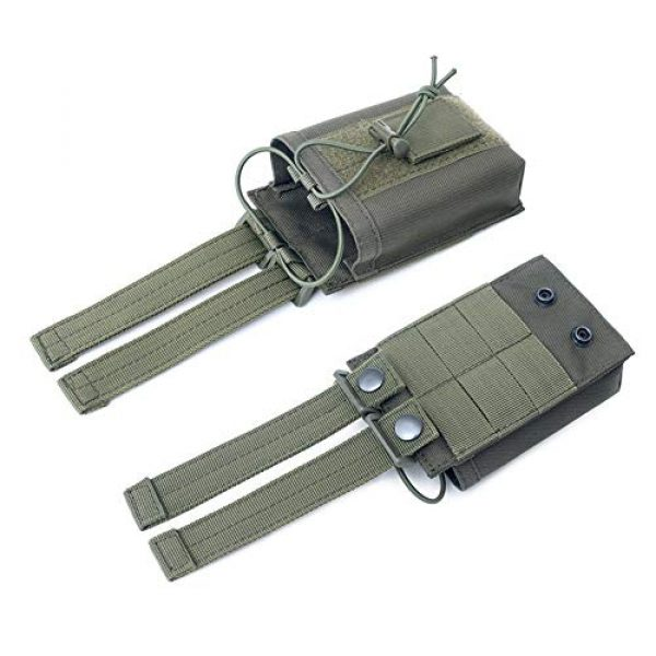 """abcGoodefg Tactical Pouch 6 abcGoodefg 1000D Adjustable Molle Tactical Pouch Radio Holster Case Walkie Talkie Holder Duty Belt, 5.3""""x 3.5""""x 1.6"""" (Amy Green)"""