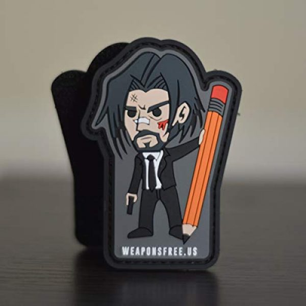 weaponsfree.us Airsoft Morale Patch 1 John Wick Custom Tactical Morale PVC Patch