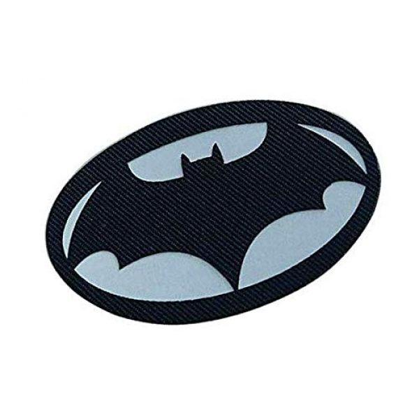 Embroidery Patch Airsoft Morale Patch 2 Batman Superhero Military Hook Loop Tactics Morale Luminous Reflective Patch (color1)