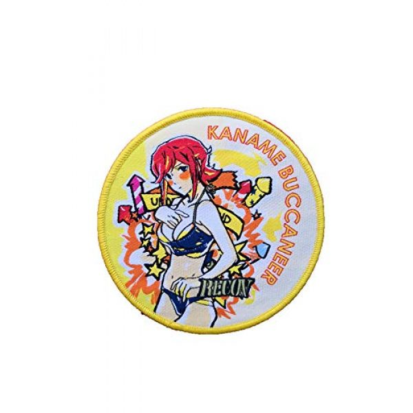Generic Airsoft Morale Patch 1 Macross Delta Kaname Buccaneer Recon Robotech Super Dimension Fortress Anime Military Hook Loop Tactics Morale Embroidered Patch