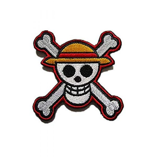 Embroidery Patch Airsoft Morale Patch 1 One Piece Japanese Anime' Luffy Skull Military Hook Loop Tactics Morale Embroidered Patch