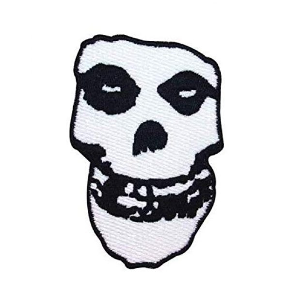 Embroidered Patch Airsoft Morale Patch 1 Misfits Crimson Ghost Skull 3D Tactical Patch Military Embroidered Morale Tags Badge Embroidered Patch DIY Applique Shoulder Patch Embroidery Gift Patch