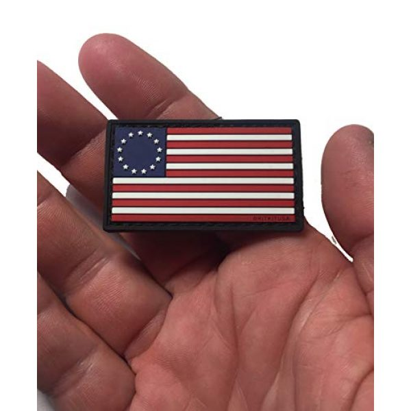 """Empire Tactical USA Airsoft Morale Patch 1 MINI BETSY ROSS FLAG 3D PVC MORALE PATCH 2"""" x 1.25"""""""