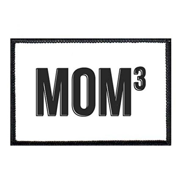 P PULLPATCH Airsoft Morale Patch 1 Mom 3 Morale Patch | Hook and Loop Attach for Hats, Jeans, Vest, Coat | 2x3 in | by Pull Patch