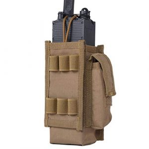IDOGEAR Tactical Pouch 1 IDOGEAR Tactical Radio Pouch Molle Radio Holder for Walkie Talkies PRC 148 / 152 Radio Airsoft Military Outdoor Sports 500D Nylon