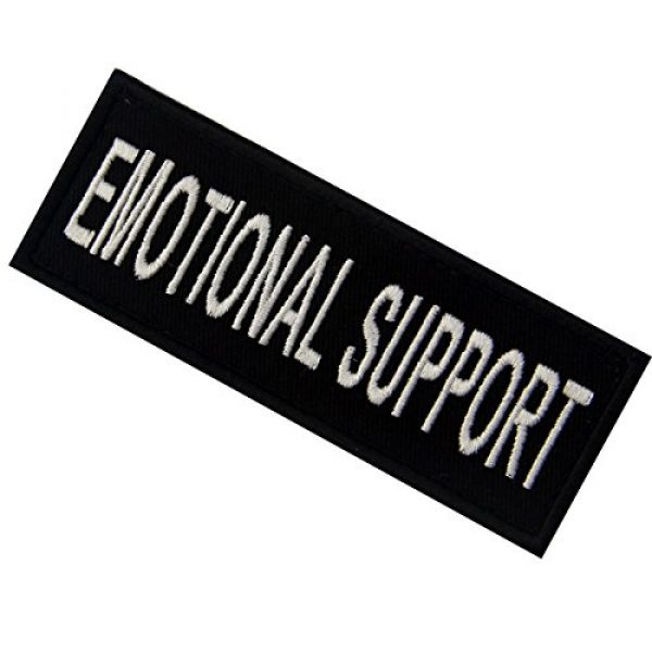EmbTao Airsoft Morale Patch 4 Emotional Support Service Animal Vests/Harnesses Emblem Embroidered Fastener Hook & Loop Patch, 4 X 1.5 Inch