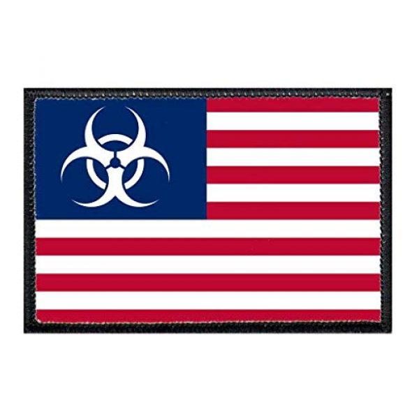 P PULLPATCH Airsoft Morale Patch 1 American Flag - Zombie Outbreak Morale Patch | Hook and Loop Attach for Hats, Jeans, Vest, Coat | 2x3 in | by Pull Patch