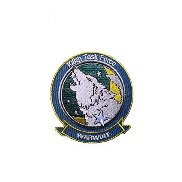 Generic Airsoft Morale Patch 1 Ace Combat Assault Horizon 'Warwolf' Military Patch Fabric Embroidered Badges morale Patch Tactical Stickers for Clothes with Hook & Loop