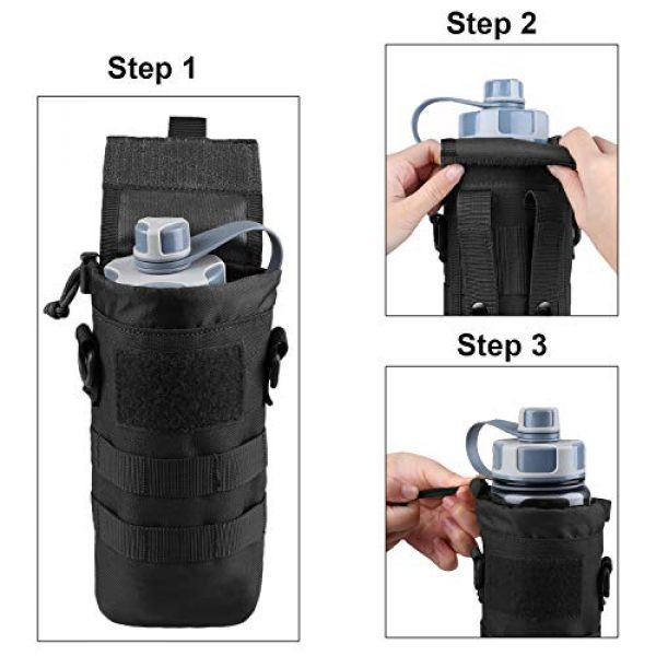 AMYIPO Tactical Pouch 6 AMYIPO Folding Water Bottle Pouch Molle Tactical Holder Storage Bag for 32oz Carrier