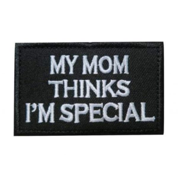 Tactical Embroidery Patch Airsoft Morale Patch 1 My Mum Thinks I'm Special Embroidery Patch Military Tactical Morale Patch Badges Emblem Applique Hook Patches for Clothes Backpack Accessories