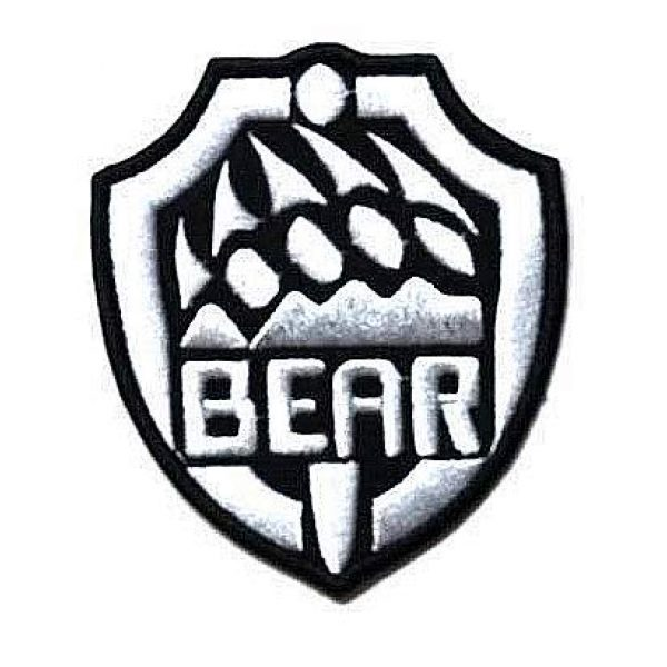 Embroidery Patch Airsoft Morale Patch 3 2 Pieces Escape from Tarkov Bear Claw Military Hook Loop Tactics Morale Embroidered Patch (color3)
