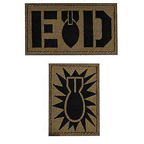 Embroidery Patch Airsoft Morale Patch 1 2 Pieces E O D Explosive Ordnance Disposal Flag Bomb Squad Infrared Reflective Military Hook Loop Tactics Morale Patch (color10)