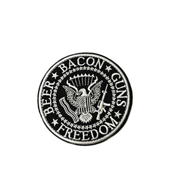 """Appalachian Spirit Airsoft Morale Patch 1 Beer Bacon Guns Freedom 3"""" Embroidered Patch DIY Iron or Sew-on Decorative Vacation Travel Souvenir Applique Biker Emblem Badge Military Veteran Tactical Funny Humor"""